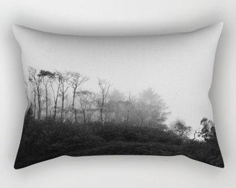 Lumbar Pillow | Rectangle Pillow |  Photo Pillow | Black and White Pillow | Olympic National Park | Photography | Ocean | Landscape |
