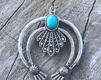 Silver Squash Blossom Pendant - DIY JEWELRY