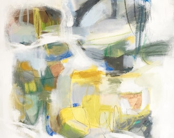 22 x 28 original abstract expressionist painting by Brenna Giessen