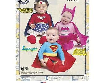 Simplicity Sewing Pattern 8193 Babies Super Hero Girls Costumes Toddler Size 1/2 - 4, DC Comics