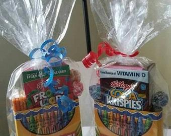 Crayon treat boxes