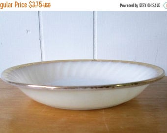 NEW ROOF SALE vintage Fire King milk glass swirl soup bowl