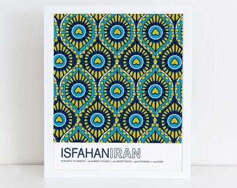 Isfahan, Iran travel poster