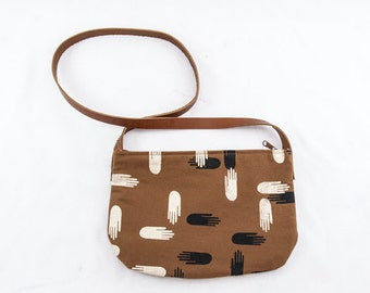 Kari Crossbody Bag—Las Manos Print