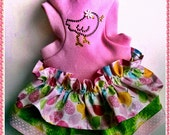 Dog Dress Chickie Tank Dog Dress With A Crystal Chick Design Dog Clothes Easter Dress
