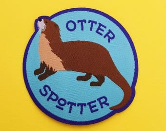 Otter Spotter Patch - Iron On Cute Otter Patch