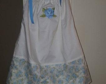 Pillowcase Dress Shabby Chic Roses Toddler 3-5T