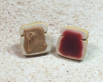 Miniature Peanut Butter & Jelly Earrings from My Bead Garden