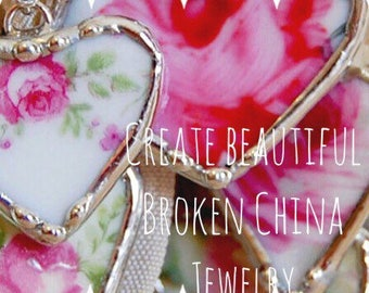 Make Beautiful Broken China Jewelry Online Workshop  by Shari Replogle