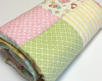 Baby Girl Quilt Old Fashioned Charm Nursery Bedding Pastels