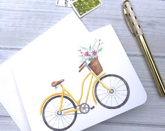 Yellow Bicycle Note Card