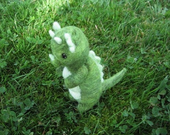 Felted Dragon Figure Needle Felted Friendly Dragon