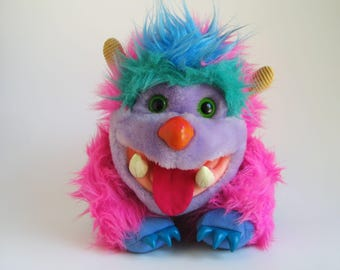 Vintage My Pet Monster Wogster Puppet 1986 AmToy Plush Stuffed Animal 1980s Toy