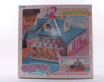 Tyco Quints, Doll House, In Box, In Package, Rooms, Not Furnished, Vintage Toys, Collectible, Complete ~ The Pink Room ~ 161125