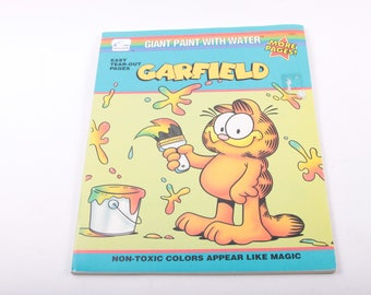 garfield giant paint with water coloring book cartoon vintage book the - Paint With Water Coloring Books