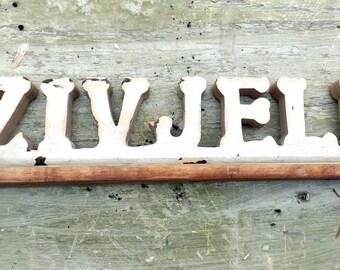 Zivjeli Sign, Serbian Sign, Reclaimed Wood Sign, Croatian Sign, Wooden Bar Sign, Recycled Wood Decor, Bosnian Sign,Man Cave Decor