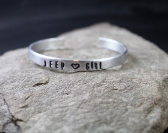 Jeep Girl Aluminum Cuff