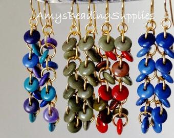 Tagua Lentil Solid Brass Earrings