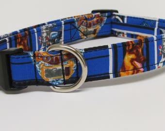 Police K-9 Theme Printed Handmade Dog Collar