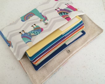 Cash budget wallet - Llamas 6 envelopes