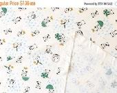 Japanese Fabric Pandas in the Rain - smooth interlock knit - green - 50cm