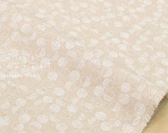 Japanese Fabric Kokka Tiny Scandinavia - maru - white, natural - 50cm