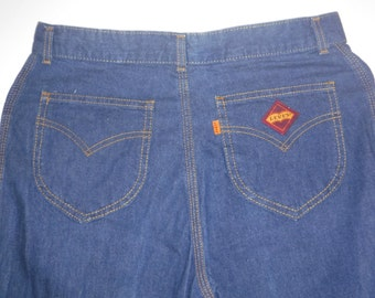 """Vintage Levis Jeans, Orange Tab Women jeans, 1970s Levis Strauss jeans, 31 inches waist, hemmed 29"""" inseam, can be lowered to 32 inches long"""