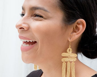 Building a Ladder - Hand Etched Earring