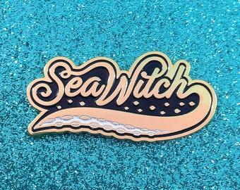 Sea Witch - Enamel Pin - Gold