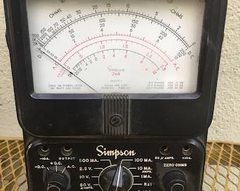 Simpson 260 Volt Ohm Meter Bakelite Case Vintage