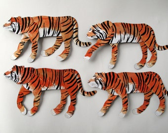 Bengal Tiger / articulated decoration  / Hinged Beasts Series