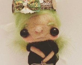 Lucky the fairy  Ooak  art doll