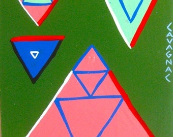 What's Your Triangle? / original painting / geometric / 5142