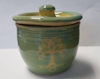 Celtic Tree of Life Ceramic lidded jar