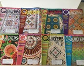 Quilters Newsletter Magazine 2008 - 8 Issues