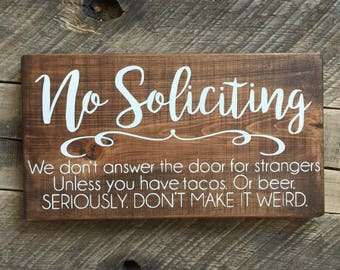 No Soliciting | Etsy