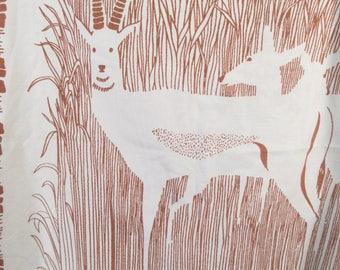 Vintage pillow case, gazelle pillow case, tiger pillow case, jungalow decor, jungle theme, animal print, boho decor
