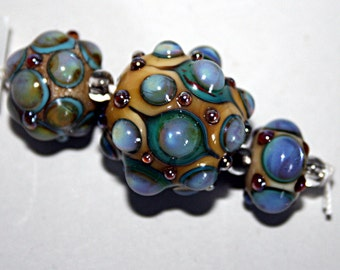Lampwork  Art Beads by Jeanniesbeads #1696