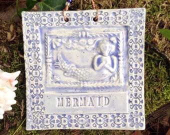 MYTHICAL MERMAID Tile in Speckled Lavender