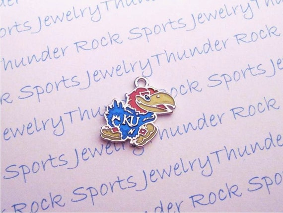 3 kansas jayhawks charms antique silver plated with blue red yellow 3 kansas jayhawks charms antique silver plated with blue red yellow enamel university logo college pendants from thunderrockalley21 on etsy studio mozeypictures Image collections