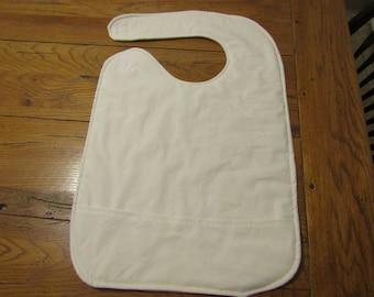 adult geriatric blank bib with pocket