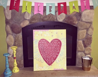 Love for a Child 24x36 CUSTOM Handpainted Canvas