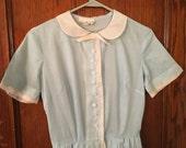 Light blue sheer 1950s Henry Rosenfeld dress
