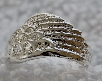 Sterling Angel Wing Ring Size 9