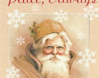 Vintage Santa peace Christmas card