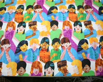CHILDREN of the WORLD~ 100% cotton fabric ~ FQ~ Rare  and htf