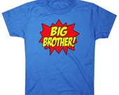 Superhero Big Brother Shirt Comic Book Style Awesome Big Brother T-Shirt