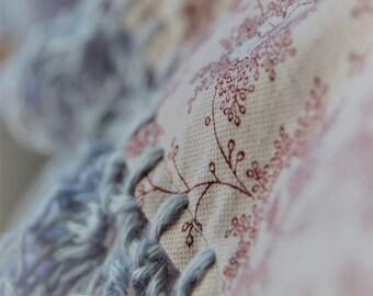 pillowcase with crochet trim  -  Sugarplum