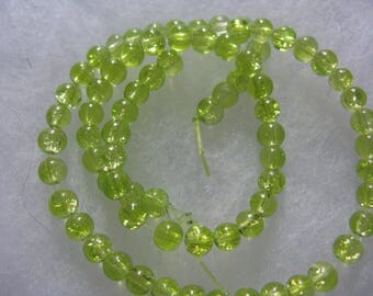 150 Green Glass  Beads 3-4mm  Beads per lot