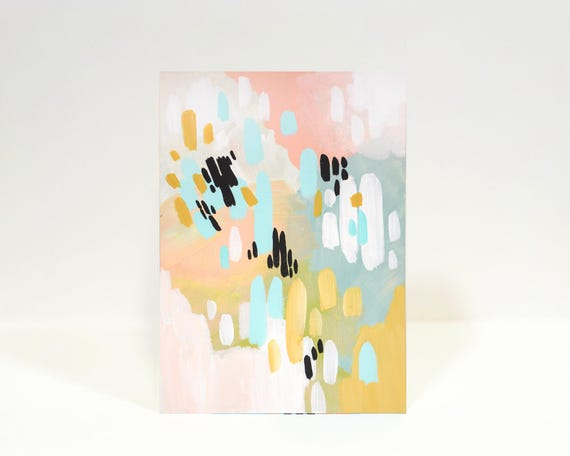 08/100 - small original painting, mini art, 100 day project, small abstract painting, original abstract painting, colorful abstract painting